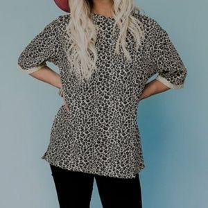 Tops - Leopard Oversized Top Size Medium
